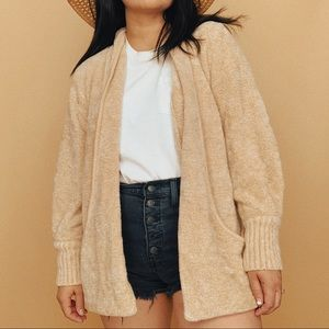 Vintage Chunky Oversized Neutral Sweater Cardigan